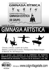 gimnasia artistica en Getafe