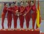 El Club Villa Getafe, campeonas de Madrid de Gimnasia Estética deGrupo